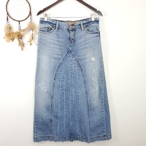 Old Navy Special Edition Upcycled Denim Maxi Skirt